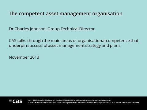 The Competent Asset Management Organisation - Dr Charles Johnson