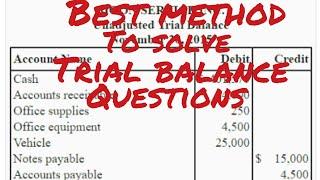 Trial balance format.