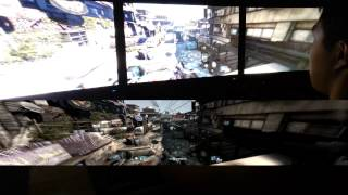 Triple Monitor Gaming Demo: Splinter Cell Blacklist 5760x1080 PC Max Settings Gameplay