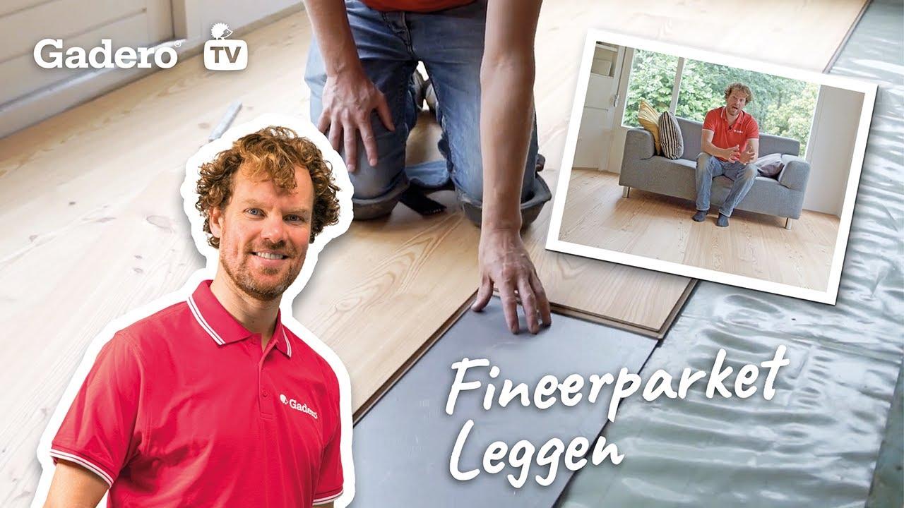 Fineerparket leggen doe het zelf tips houten vloer leggen