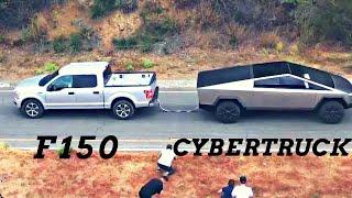 Ford F150 vs Tesla Cybertruck - Tug of war   Tesla Cybertruck launch