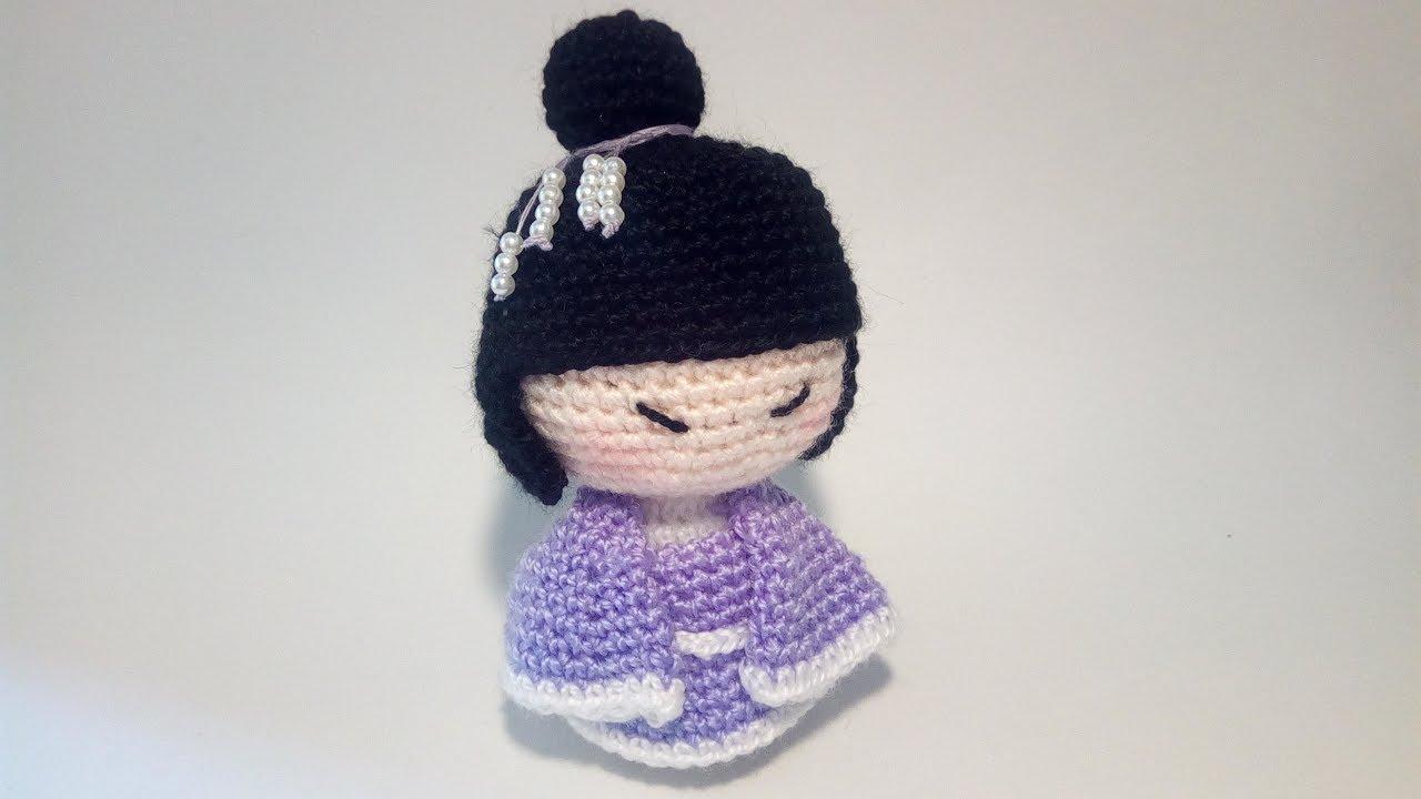 Tutorial Angioletto Amigurumi : Geisha amigurumi uncinetto tutorial crochet youtube