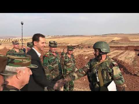Syrian President Meets Famous 'Tiger' Commander