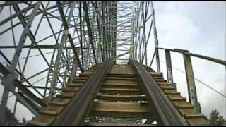 Hades Wooden Roller Coaster Front Seat POV Mt. Olympus Theme Park Wisconsin Dells