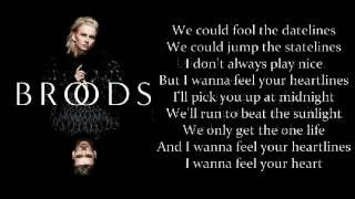 Broods  - HeartLines Lyrics Video