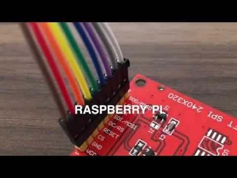 TFT SPI-Display (ILI9341) on the Raspberry Pi