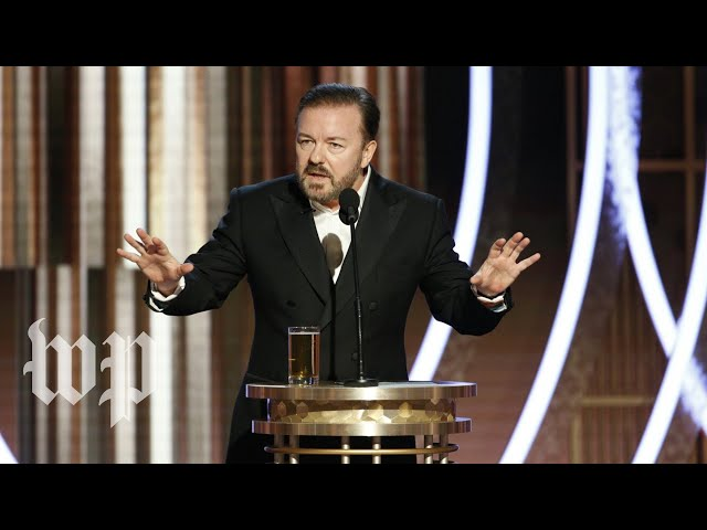 Ricky Gervais uses Golden Globes monologue to roast all-things Hollywood