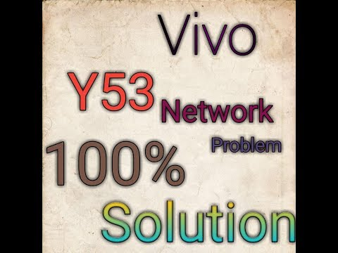 how to fixe network problem in Vivo y53 - YouTube