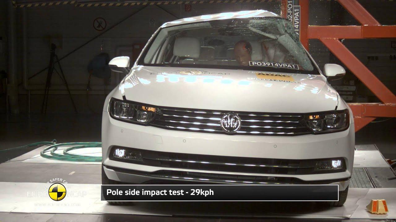 Euro NCAP Crash Test Of Volkswagen Passat 2014   YouTube