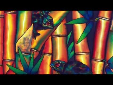 JEAN-BAPTISTE : Worlds Best Silk Painting Artist :RAINFOREST FRIENDS  SHORT CLIP