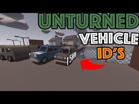 Unturned Irish Map, All VEHICLE ID's (Unturned Cinematic)