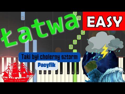 🎹 Taki był cholerny sztorm (Pacyfik) - Piano Tutorial (łatwa wersja) 🎹