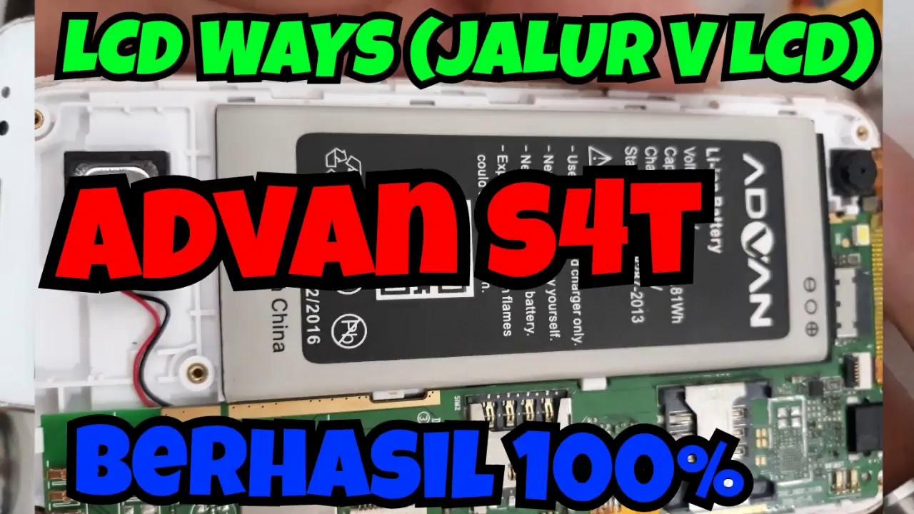 Jalur Lcd V Advan S4t Ways Berhasil 100 Youtube