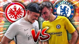 FRANKFURT VS CHELSEA FUßBALL CHALLENGE ! *1 VS 1*