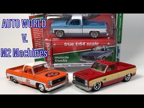 Comparing Auto World And M2 Square Body Chevy Trucks