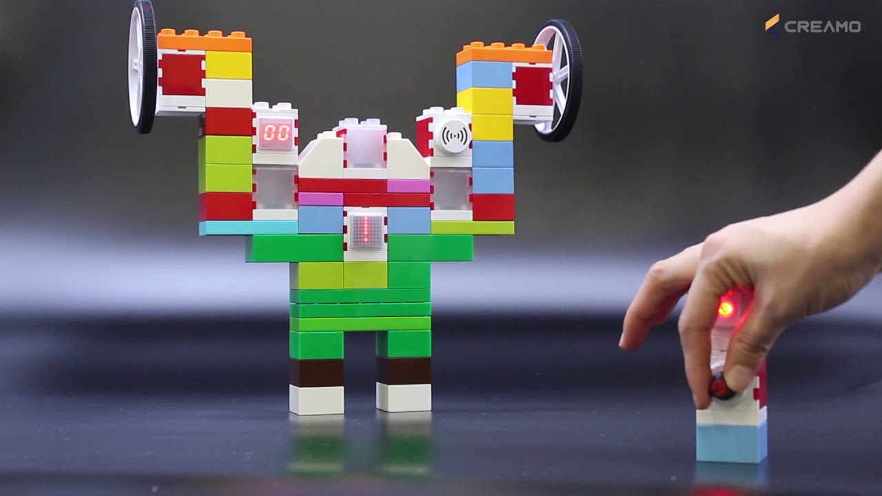 CREAMO SMART BLOCK - ADDI Block(Standard Kit)_Weightlifter robot
