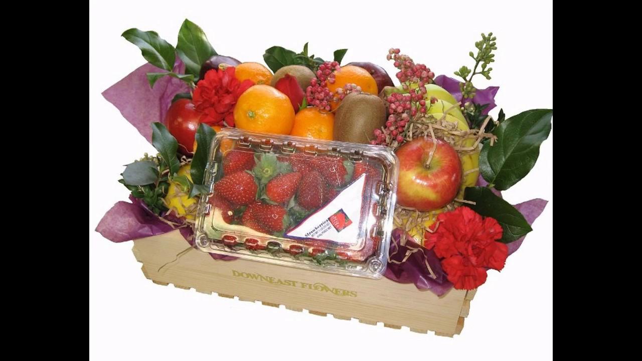 Fruit basket decoration for wedding - YouTube