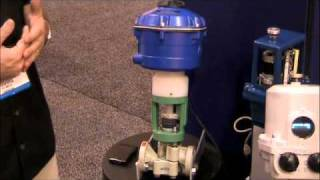 control valve actuator with fail to position capabilities at weftec 2010