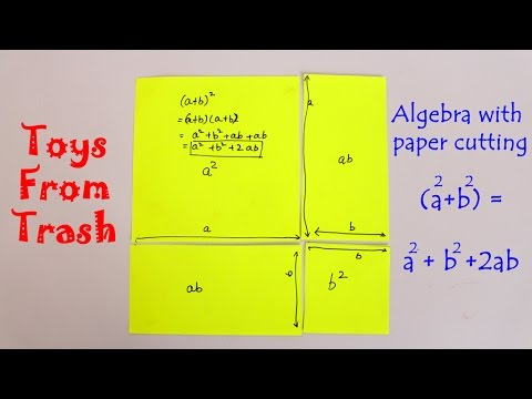 Papercraft ALGEBRA WITH PAPER CUTTING - Telugu