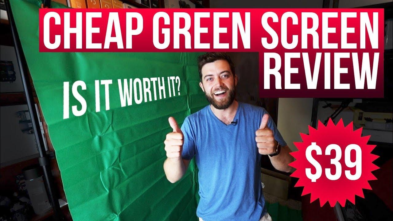 Cheap green screen review ($39)