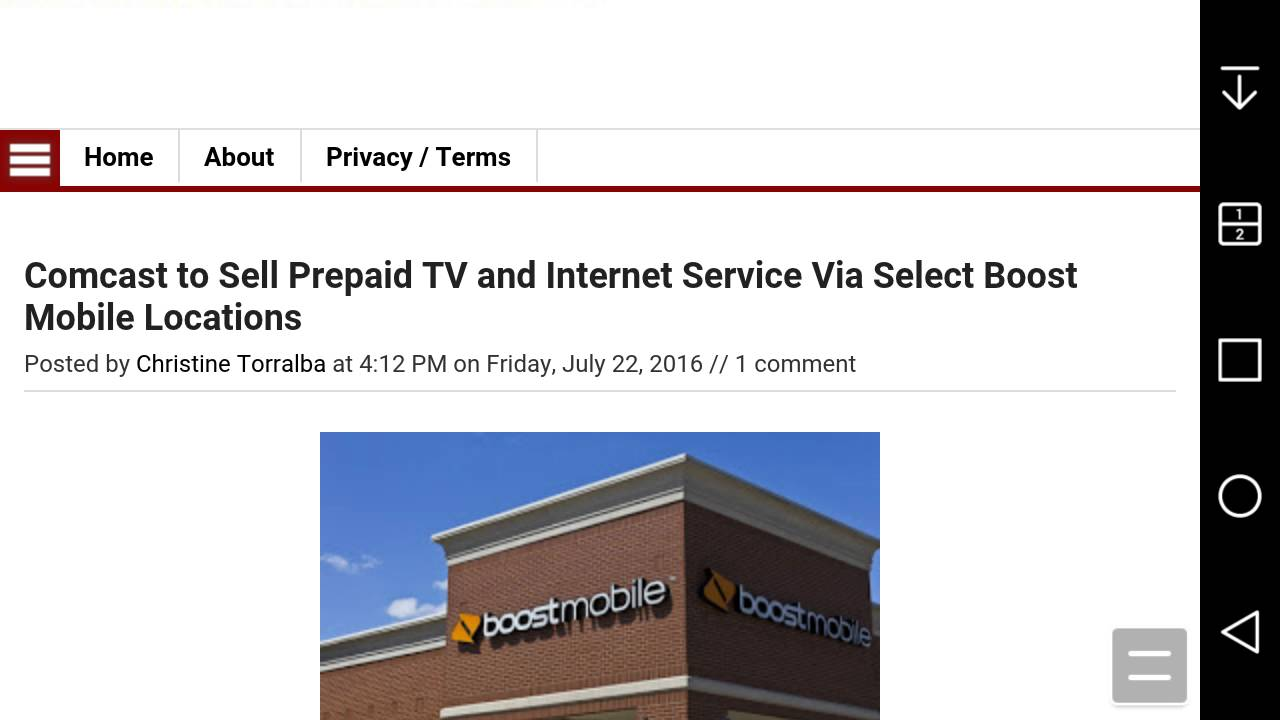 Tv And Internet Service >> Comcast Partners With Boost Mobile To Sell Prepaid Tv Internet