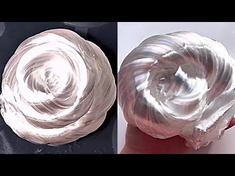 Liquid glass putty - Most satisfying slime ASMR video compilation