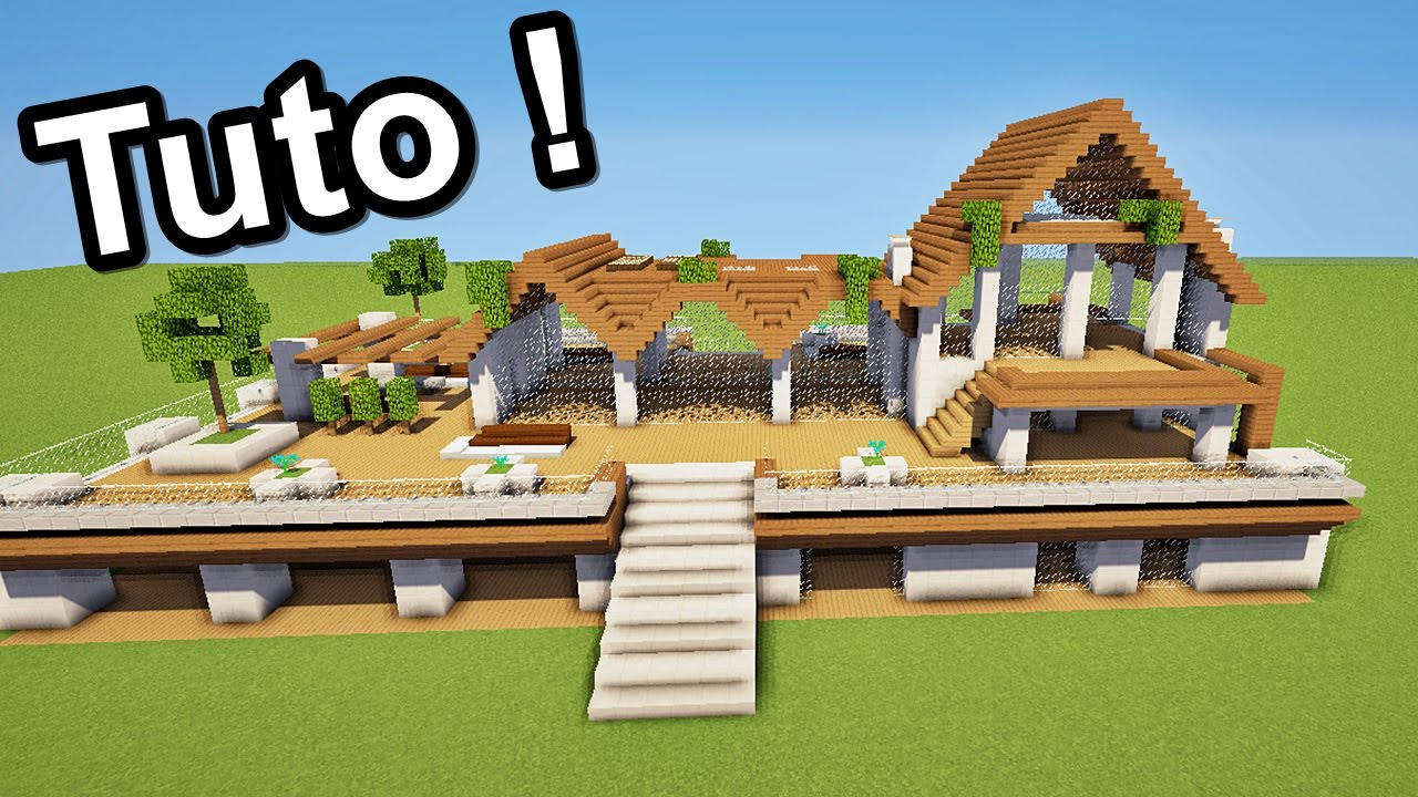 Extrem MINECRAFT TUTO GRANDE MAISON MODERNE ! + download - YouTube RQ76