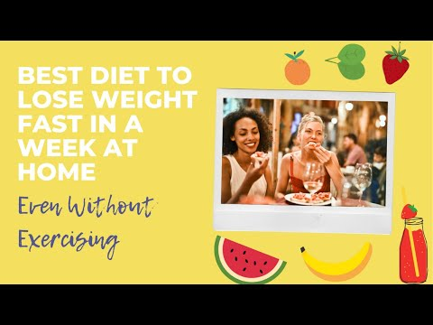 ⚡️Best Diet To Lose Weight Fast In A Week At Home⚡.  😯 Even Without  Exercise