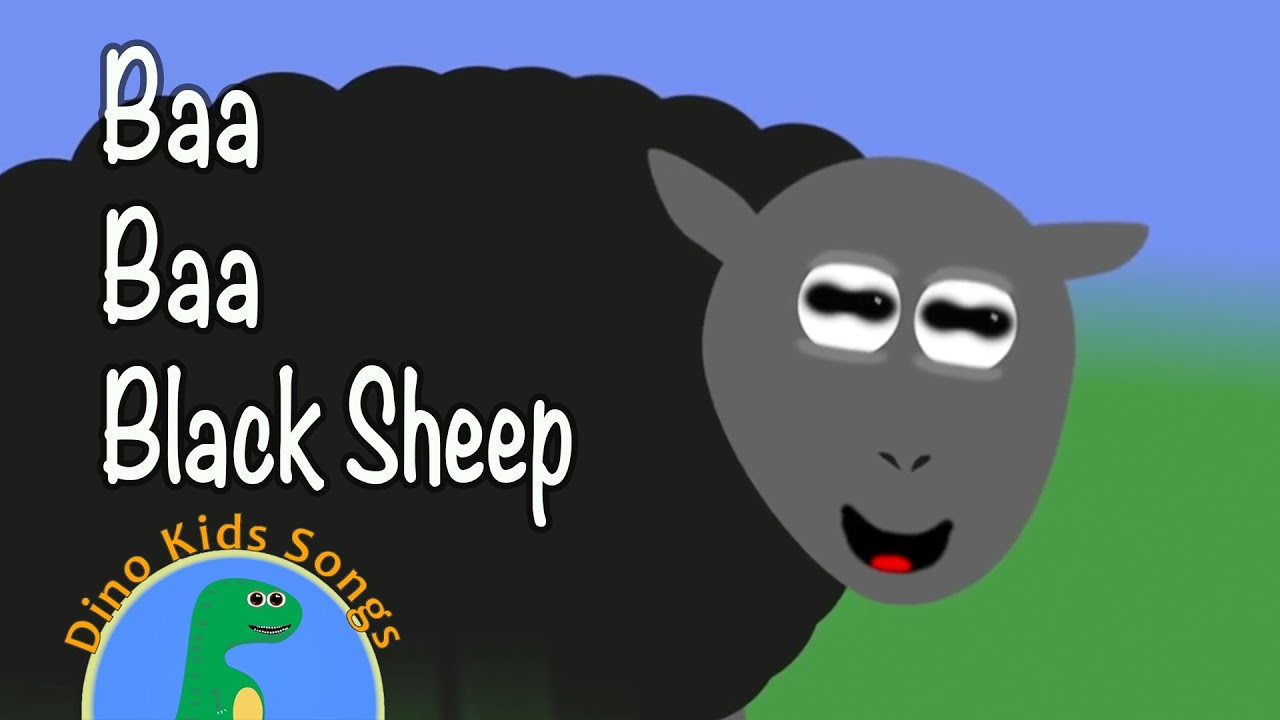 Baa Baa Black Sheep Dino Kids Songs