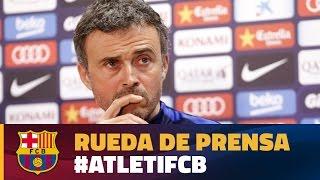 Rueda de prensa de Luis Enrique previa al partido At. Madrid - FC Barcelona
