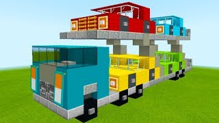 "Minecraft Tutorial: How To Make A Car Transport Truck ""2019 City Tutorial"""