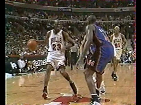 Chicago Bulls - New York Knicks, playoffs 1996 Game 2, VF George Eddy