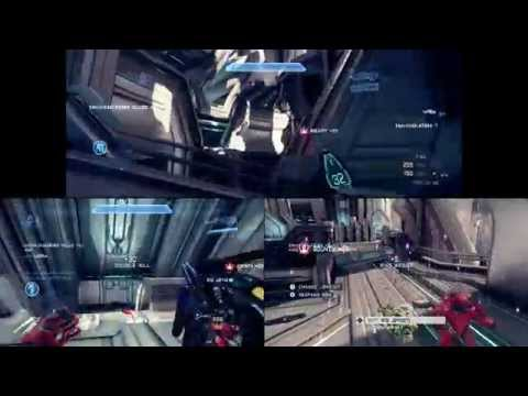 3-player split screen HALO 4 gameplay