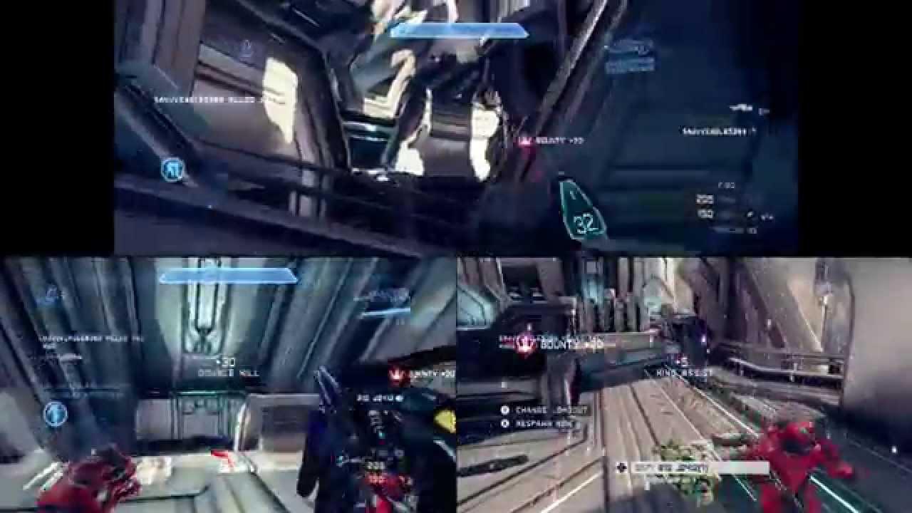 Halo 3 split screen 4 player