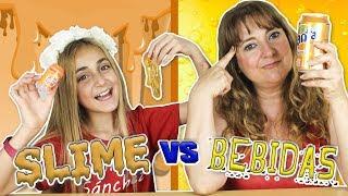 DRINK SLIME vs REAL DRINK Challenge 🍹 BEBIDA de SLIME vs BEBIDA REAL - Silvia Sánchez