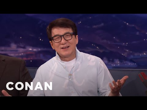 Jackie Chan On The First Time He Met Steven Spielberg   CONAN on TBS