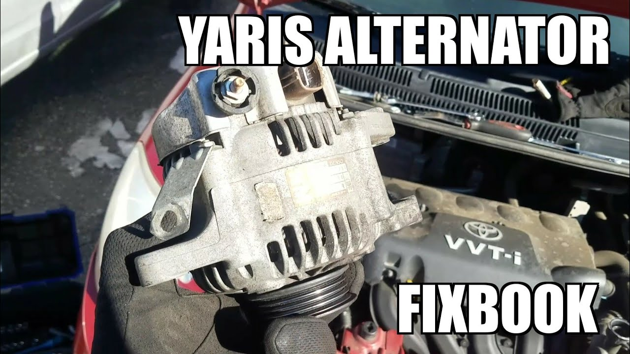 hight resolution of alternator 05 11 toyota yaris replacement how to