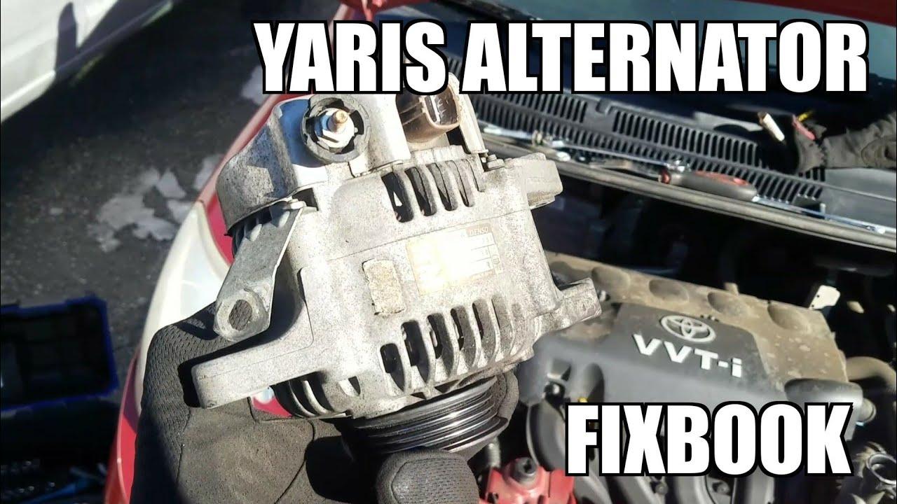 alternator 05 11 toyota yaris replacement how to  [ 1280 x 720 Pixel ]