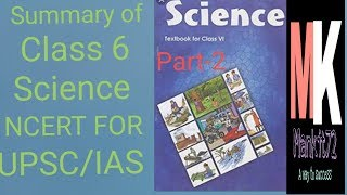 NCERT Summary of Class 6 Science [UPSC CSE/IAS,SSC CGL ]- Mankit Sir (2/3) important for all exams |