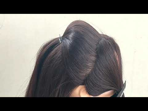 Easy Puff With Twist Hairstyle    Beautiful Hairstyle For Party For Medium Hair thumbnail