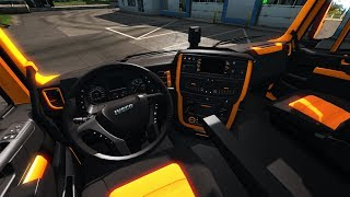 [ETS2 v1.36] Iveco Hi-Way Black Orange Interior
