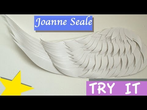 Tutorial - Paper cut wing wall art part 1 - Drawing the feathers