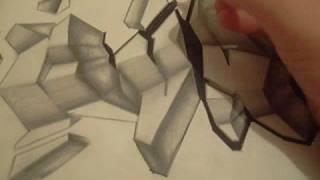 GRAFFITI ART 3D..DRAWING