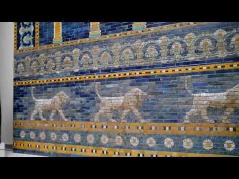 Babylonian Ishtar Gate in Berlin's Pergamon Museum
