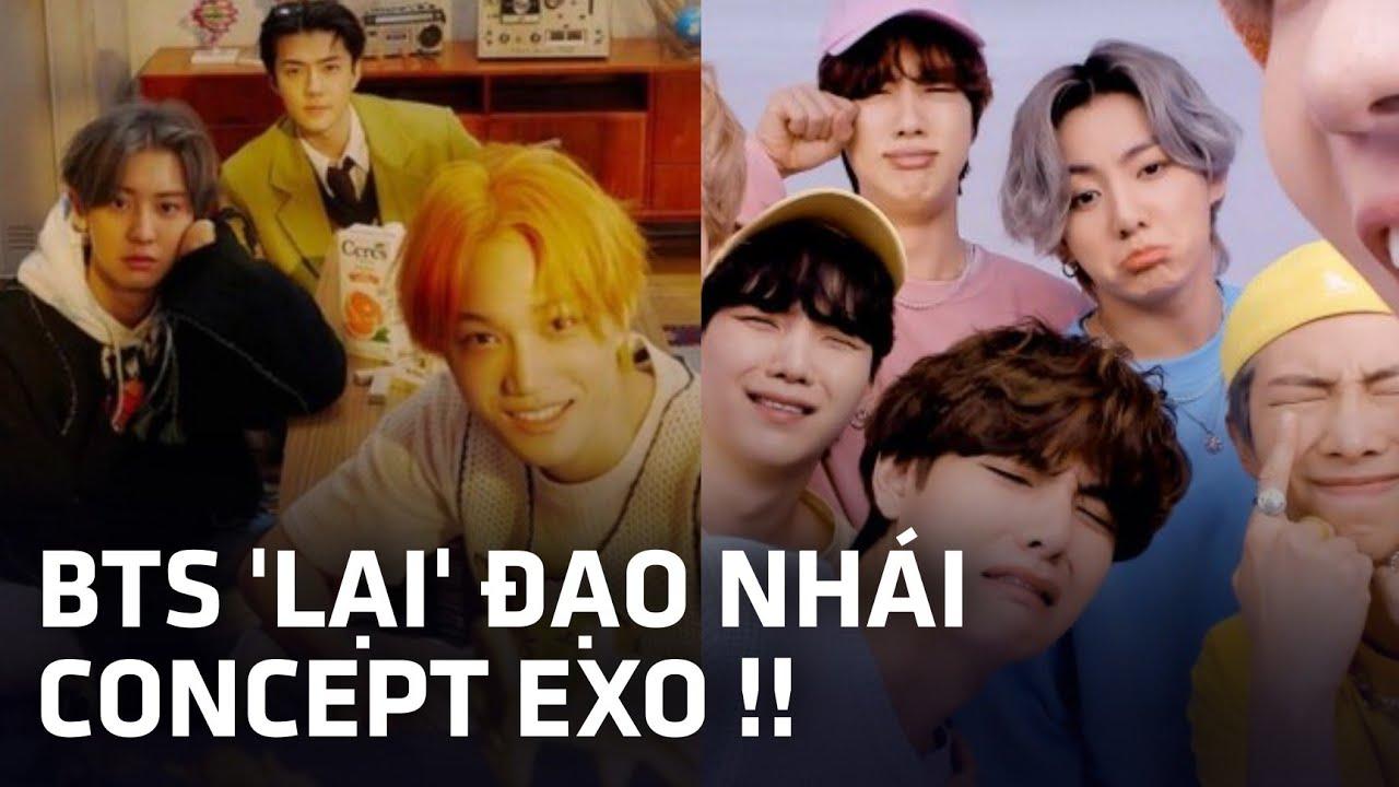 BTS bị tố Đạo Nhái trắng trợn concept của EXO tại fanmeeting, ARMY tung bằng chứng khiến dân tình