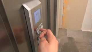 Schindler Miconic 10 MRL Traction elevator @ Magnus Ladulåsgatan 67, Stockholm, Sweden.