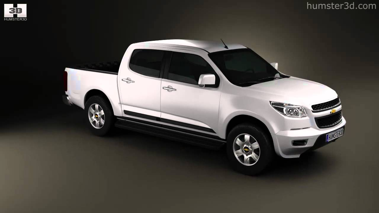 Chevy Colorado Crew Cab >> Chevrolet Colorado S-10 Crew Cab 2013 by 3D model store Humster3D.com - YouTube