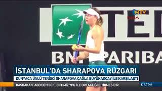 Maria Sharapova ile Çağla Büyükakçay İstanbul'da karşı karşıya geldi ! Video