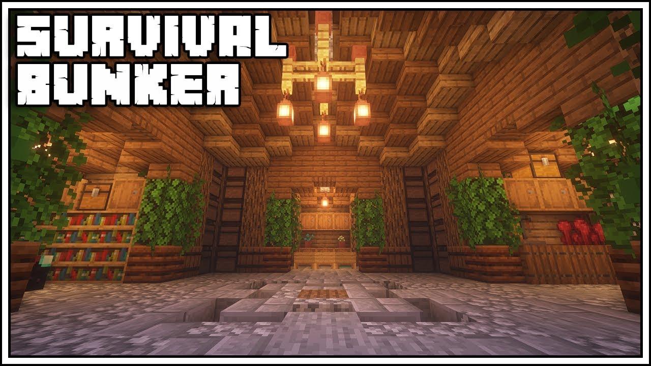 Minecraft Underground Survival Bunker Tutorial [How To Build]