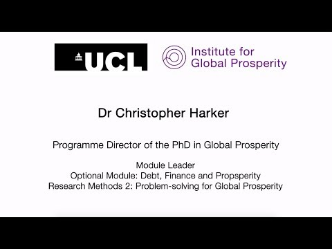 What's it like to study the MSc Global Prosperity?